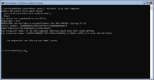 Enroll a Certificate by Command Line